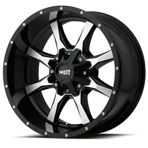 20 Inch Black Wheel Rims Lifted Ford F250 Truck Superduty Moto Metal Mo970 20x10