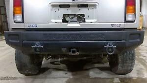 03 05 Hummer H2 Rear Bumper Assembly Complete With Tow Hooks