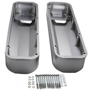 Fabricated Aluminum Valve Covers W Bolts For Bbf Big Block Ford 429 460 Engine