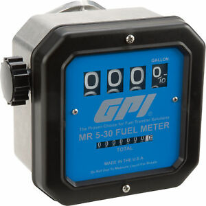 Gpi Mechanical Fuel Flow Meter 3 4in Inlet outlet Model Mr 5 30 g6n