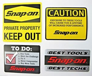 New Genuine Official Snap On Tools 4 Piece Decal Sticker Set 4 Free S H