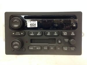Oem Cd Cassette Radio Factory Original Stereo For 2004 Gm Suvs