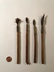 Antique Handmade Artist S Paintbrushes Set Of Four 1920 S