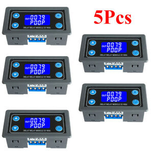 5pcs Digital Display Time Delay Module Relay Timing Timer 6 30v Control Switch
