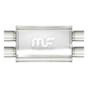 Magnaflow Muffler Dual 2 50 In Dual 2 50 Outlet Stainless Steel Natural Ea 11386