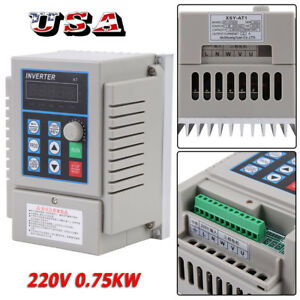 220v 0 75kw Single Phase 3ph Variable Frequency Drive Vfd Speed Controller New