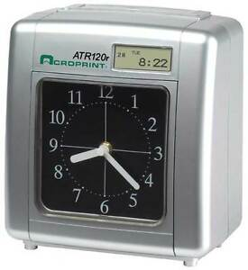 Acroprint Atr120r Time Clock Includes 250 Time Cards Card Rack