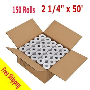 150 Rolls case 2 1 4 57mm X 50 Thermal Receipt Cash Register Credit Card Paper