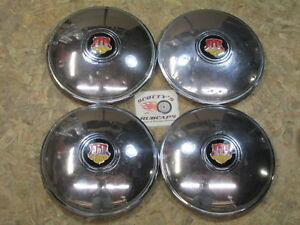 1948 1949 Oldsmobile 98 Deluxe 88 Etc Poverty Dog Dish Hubcaps Set Of 4