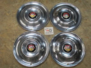 1950 53 Oldsmobile 88 Super 88 98 Deluxe Holiday 15 Wheel Covers Hubcaps