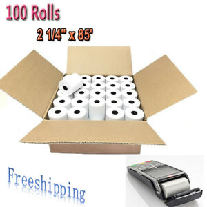100 Rolls 2 1 4 X 85 Thermal Cash Receipt Register Credit Card Pos Paper Label