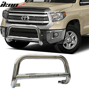 Fits 05 15 Toyota Tacoma Bull Bar 304 Stainless Steel Led Silver 3