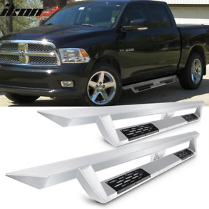 Fits 16 18 Ram 1500 16 18 2500 3500 Crew Cab Ikon V1 Style Running Boards Silver