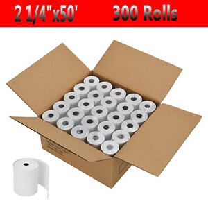 300 Rolls case 2 1 4 57mm X 50 Thermal Receipt Cash Register Credit Card Paper