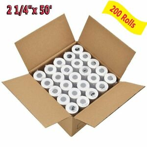 200 Rolls 2 1 4 X 50 Thermal Receipt Paper Roll For Mobile Pos