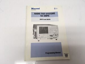 Marconi Instruments 2957a 2957b Radio Test Systems For Amps Programming Manual