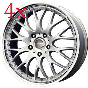 Drag Wheels Dr19 17x7 5 4x100 4x114 Silver Rims For Mirage Insight Zx2 Escort
