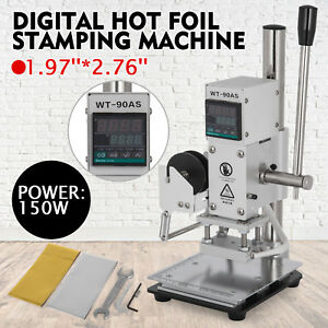 5 7cm Digital Hot Foil Stamping Machine 110v Leather Embossing With Holder Pro