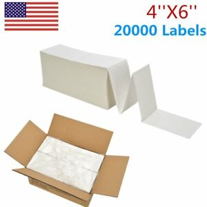 20000 Fanfold 4 X 6 Direct Thermal Shipping Barcode Labels Zebra 2844 Usps