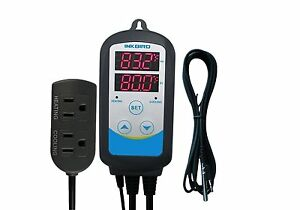 Inkbird Cool Heat 110v Temperature Control Thermostat Timer Set Home Brew Us 10a