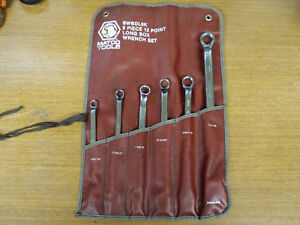 Matco Tools 6 piece Sae Long Offset Box End 12 point Wrench Set Usa
