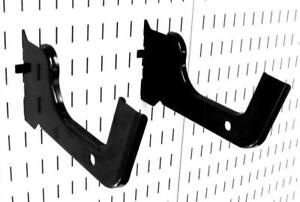 Wall Control 10 hd 012 B Heavy Duty Pegboard Hook Slotted Pair Black