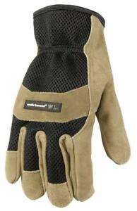 Wells Lamont Leather Work Gloves Suede Cowhide Palm Ultra Comfort Large 861l