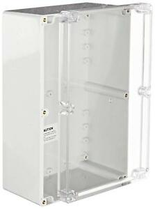 Bud Industries Pn 1340 c Polycarbonate Nema 4x Box With Clear Cover 9 7 16
