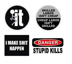 Funny Hard Hat Stickers Best Seller Pack Of 4 F k It Skilled Labor