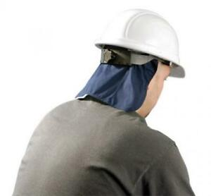 Hard Hat Cooling Pad Deluxe With Neck Shade Navy Miracool