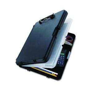 Saunders Black Workmate Ii Clipboard With Gray Hinges Plastic Storage For