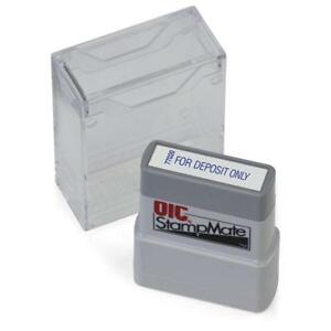 Officemateoic Office Pre inked Message Stamp For Deposit Only Blue