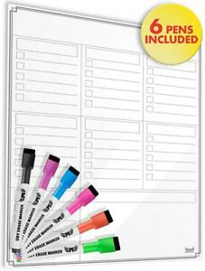 Magnetic Dry Erase Calendar For Refrigerator With Anti staining Surface