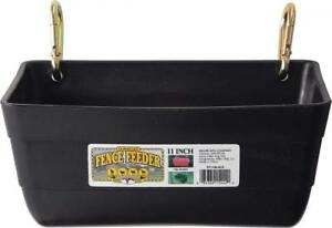 Little Giant Fence Feeder With Clips 11 inch Black