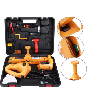 Practical 3ton Electric Scissor Jack Plus Impact Wrench Set With Remote Control