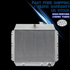 3 Row Radiator For 49 54 53 52 Chevy Bel Air Fleetline Styleline Deluxe Sedan V8