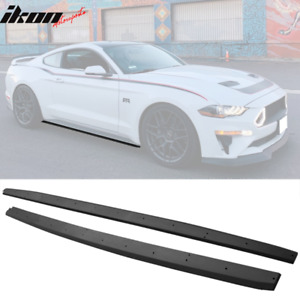 Fits 15 19 Ford Mustang Side Skirts Extension Oe Textured Black Pp