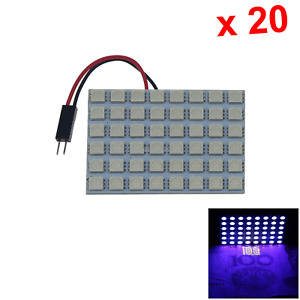 20x Ultraviolet Auto Panel Door Lamp Reading Light 48 5050 Smd Led J008