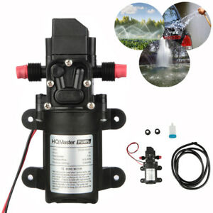 Dc 12v 130psi 6l min Water High Pressure Diaphragm Self Priming Pump 70w Usa
