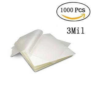 1000 Pcs 3 Mil Letter Thermal Laminating Pouches Heat Seal Sheets 9 x 11 5 Size