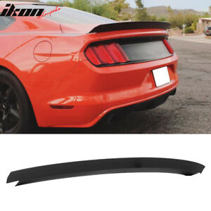 Fits 15 20 Ford Mustang Trunk Spoiler Wing Matte Black Abs