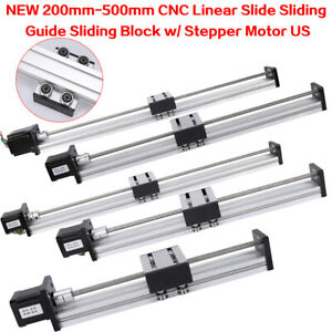 Cnc Linear Actuator Stage Lead Screw Slide Rail Guide 42 Stepper Motor Usa
