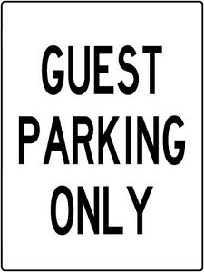 Guest Parking Only Metal Sign Aluminum Parking Lot Garage Carport Sign 9x12inch