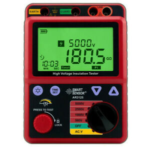 Insulation Resistance Tester Meter High Voltage 5kv Megger Smart Sensor