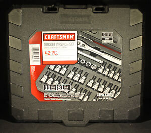 Craftsman 42 Piece Socket Wrench Set 34845 Brand New In Carry Case