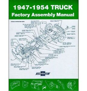 1947 54 Chevrolet Pickup Assembly Manual 47 48 49 50 51 52 53 54