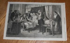 1874 Antique Medical Print Of Surgery Operation Blood Transfusion Doctor W Kit