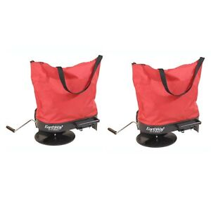 Earthway 2750 Hand Crank Garden Seeder Adaptable Fertilizer Spreader 2 Pack