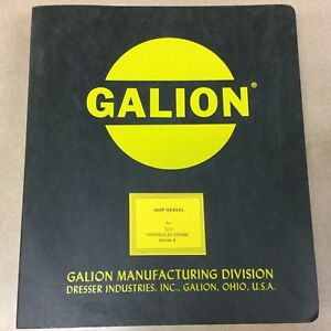 Galion 150 Series A Service Shop Repair Manual Hydraulic Rt Mobile Crane Guide