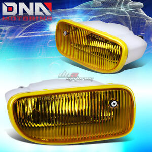For 99 01 Jeep Grand Cherokee Wj Yellow Tinted Oe Bumper Fog Light Lamp Bulb